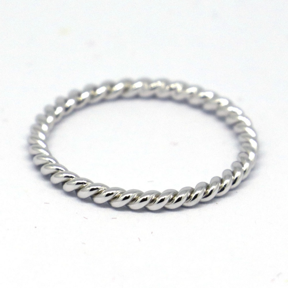 Sterling Silver Rope Ring Handmade All Size
