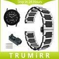 22mm correa de reloj de cerámica y acero inoxidable + venda de reloj del removedor del acoplamiento para el vector luna meridiano butterfly corchete correa de muñeca pulsera