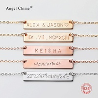925 Sterling Silver Personalized Symbol Bracelet Bar Armband Name Engraving Bracelet Jewelry For Women Aniversary Birthday Gift