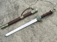 Chinese Zodiac gifts small sword, stainless steel Longquan sword, home feng shui decorations.
