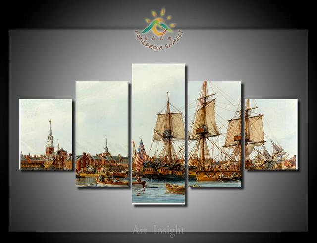 5 Pieces/set Alfred ship Wall Art For Wall Decor Home Decoration ...