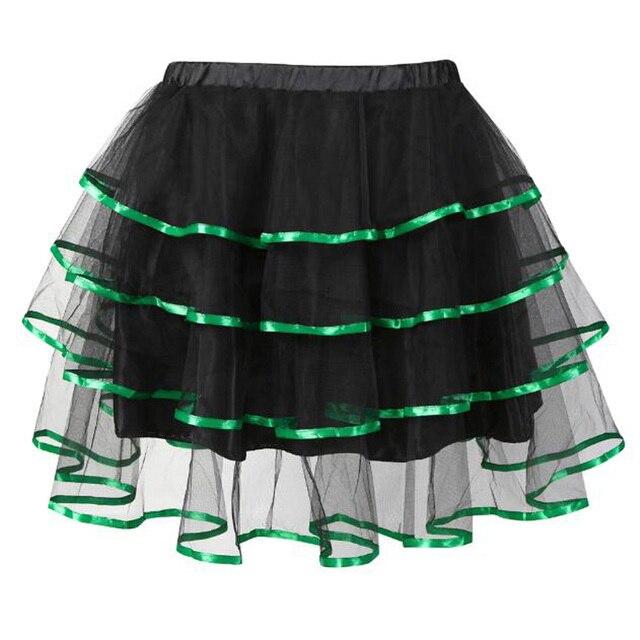 Black Short Skirts For Women Ruffles Lolita Tulle Skirt Punk Rock Gothic Women Skirts Vintage High-Waist Female Goth Mini Skirt