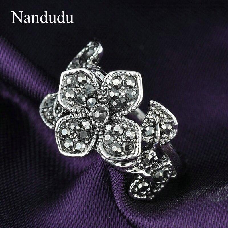 Nandudu όμορφα λουλούδια Marcasite - Κοσμήματα μόδας - Φωτογραφία 2