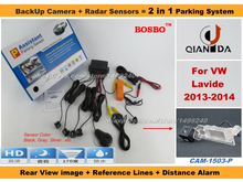 For VolksWagen VW Lavide 2013-2014 – Car Parking Sensor+ Rear View Camera 2in1 Assistance System – 4 Radars