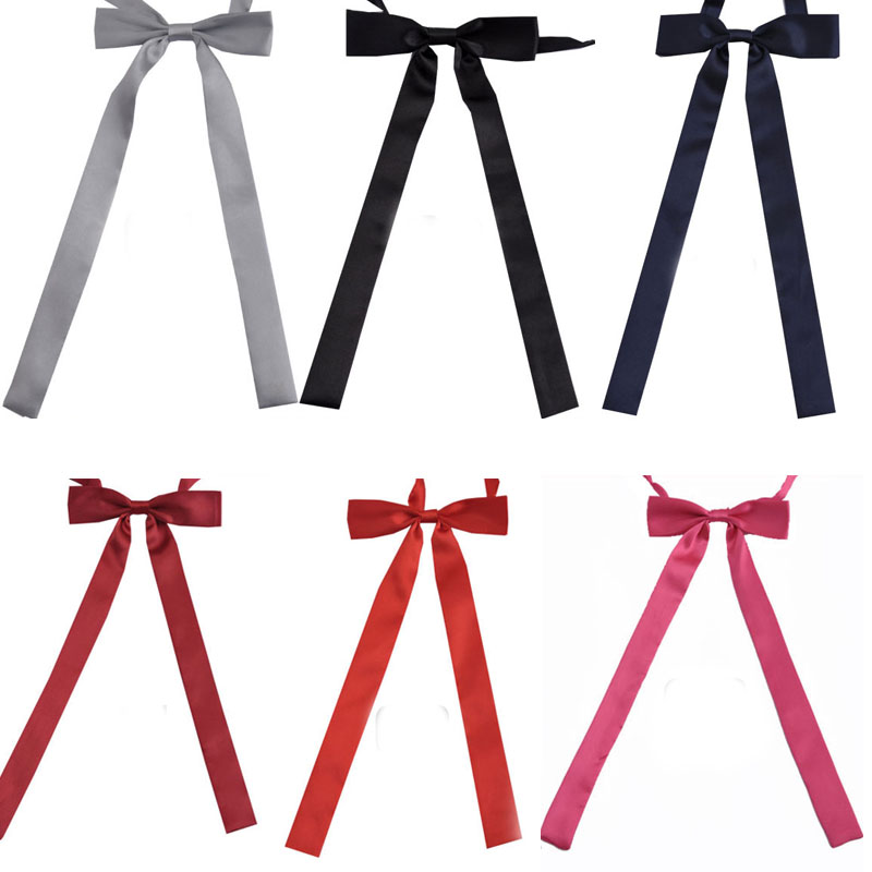 NEW Fashion Women Long Bow Tie  Brand Korean Slim Bowties Women Accessories For Party Free Shipping Wholesale