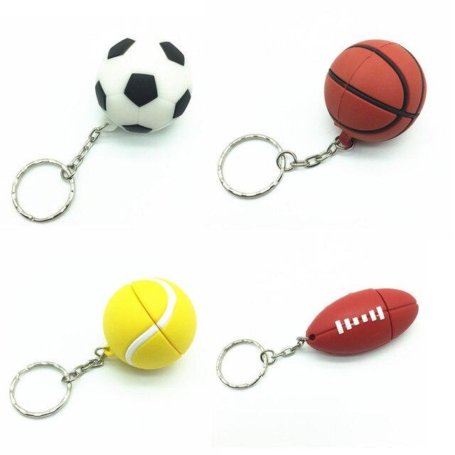 Desenhos animados esportes com bola de futebol e basquete usb flash drive  silicone dispositivo de armazenamento 4d74997ac146d