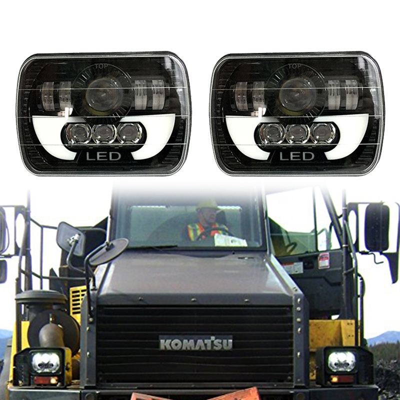 FADUIES 7x6 5x7 55W LED Projector Sealed Beam Headlight for Jeep Cherokee XJ Truck 4X4 Offroad