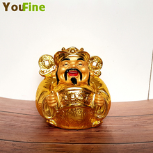 Pure copper bronze god Buddha statue attracts money and displays Feng Shui decorative Buddhist supplies indoor ornaments