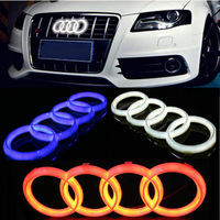 1Pcs Blue/White/Red Front Head Car Led Grille BlLED Logo Emblem Light For Audi A1 A3 A4 A4L A5 A6 A7 Q3 Q5 Q7 4D led logo light