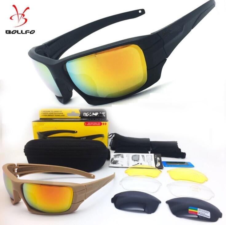 67d7d600e1 Comprar Marca polarizado táctica 4 lentes de gafas de sol de protección UV  militar gafas TR90 ejército Google bala prueba gafas de ciclismo Online  Baratos .