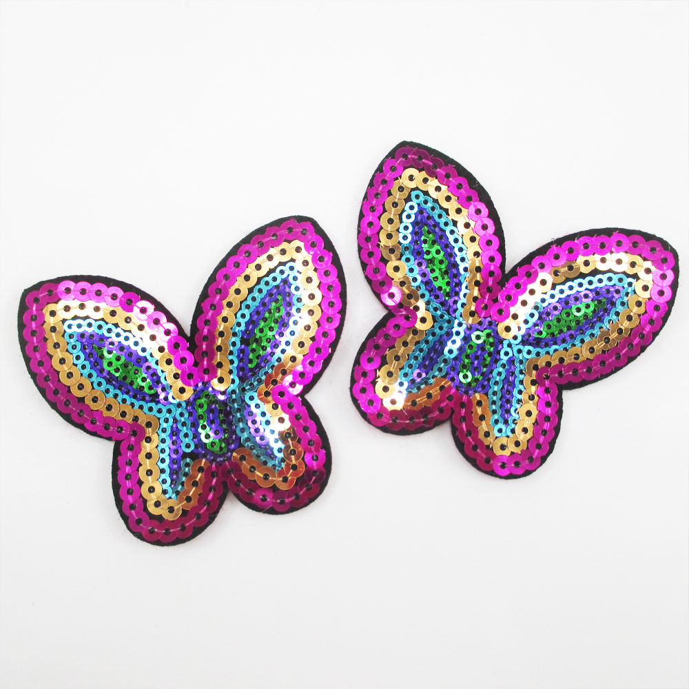 Aliexpress.com  Buy 73*67MM Butterfly Embroidery Patch ...