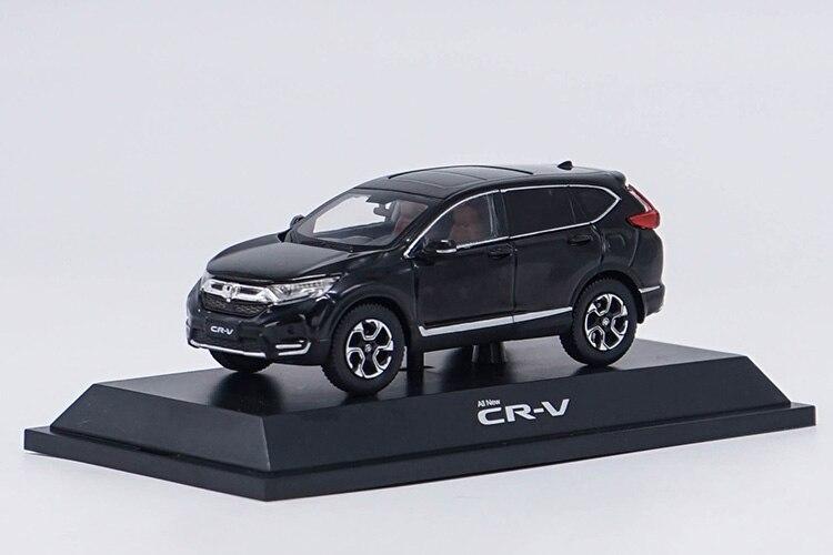 1:43 Diecast Model for Honda CR-V 2017 Black SUV Alloy Toy Miniature Collection Gifts CRV CR V Car 1 18 diecast model for honda crider 2016 white sedan alloy toy car miniature collection gifts crv cr v