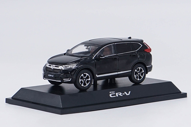 1 43 Cast Model For Honda Cr V 2017 Black Suv Alloy Toy Miniature Collection Gifts Crv Car