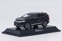 1:43 Diecast Model for Honda CR V 2017 Black SUV Alloy Toy Miniature Collection Gifts CRV CR V Car