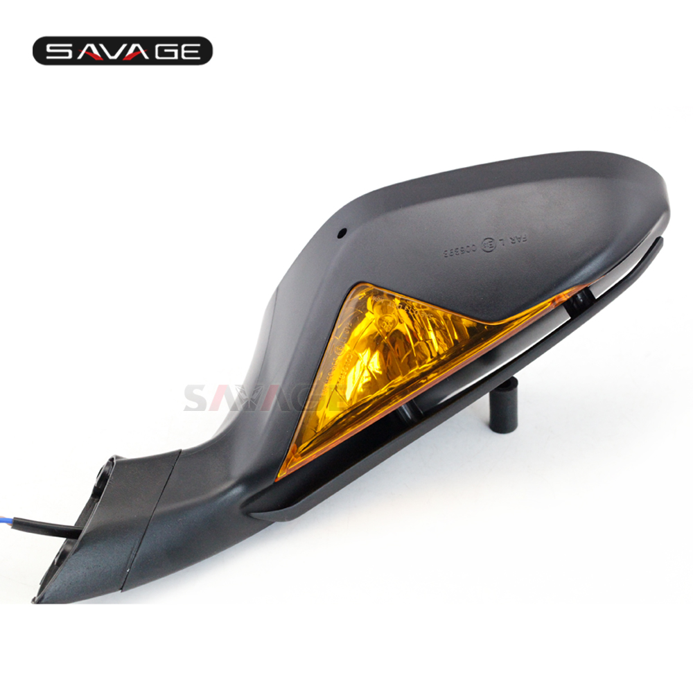 Rear View Mirrors For MV Agusta F3 675 2012-2018/800 2013-2017 With Turn Signals Blinker Indicator On The Right Brand New Pair ergonomic new cnc adjustable right angled 170mm brake clutch levers for mv agusta f3 675 2013 2014