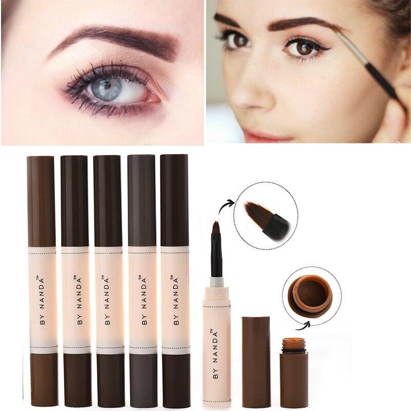 Brand Makeup Henna Eyebrow Gel Eye Brow Tint Gel Longwear Waterproof Brown Color Tattoo Eyebrows Enhancer Cosmetics