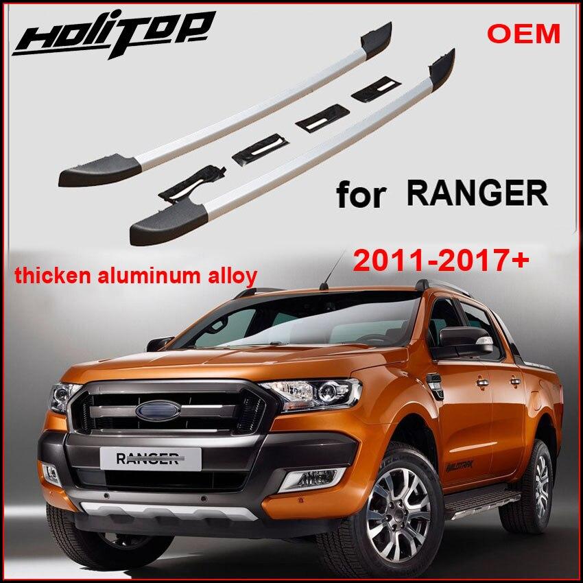 Nouvelle arrivée pour Ford Ranger OE bagages barres toit barres de toit, alliage d'aluminium, installer par vis ne colle pas, qualité