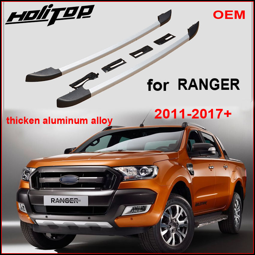 Nouvelle arrivée pour Ford Ranger OE bagages traverses toit rails toit rack, en alliage d'aluminium, installer par vis pas colle, qualité fournisseur