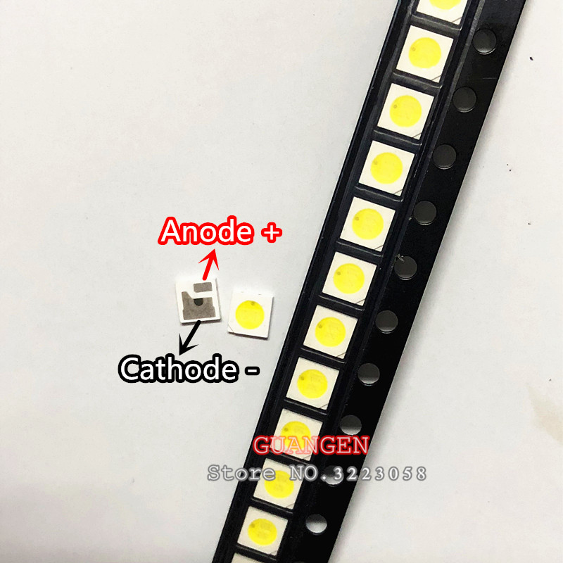 100pcs Original FOR AOT LED 3030 Lamp Beads 1.6W 97-100LM LCD TV Backlight Lamp Beads 6V SMD Cool White EMC For CREE 3030 6V 2W