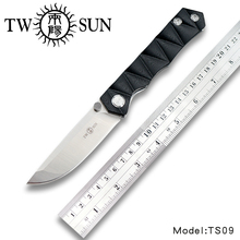 TWOSUN TS09 D2 blade folding knife Pocket Knife tactical Survival knives hunt camping outdoor tool EDC G10
