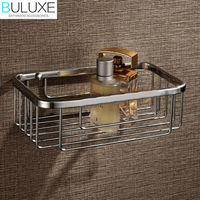 BULUXE Brass Bathroom Accessories Bathroom Shelf Wall Mounted Bath Corner Shelf Shower Caddy Storage HP7728