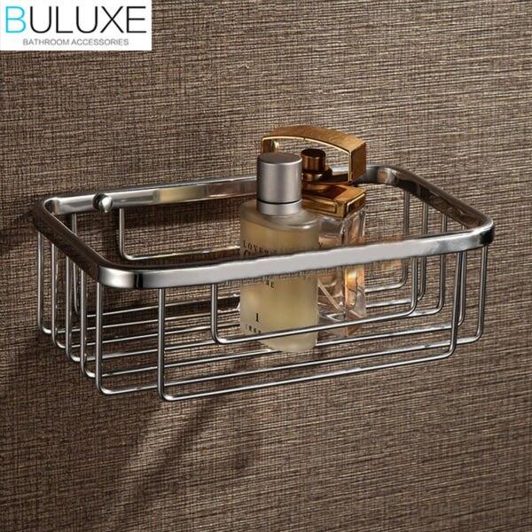 buluxe brass bathroom accessories bathroom shelf wall mounted bath corner shelf shower caddy storage hp7728 - Corner Bathroom Shelf