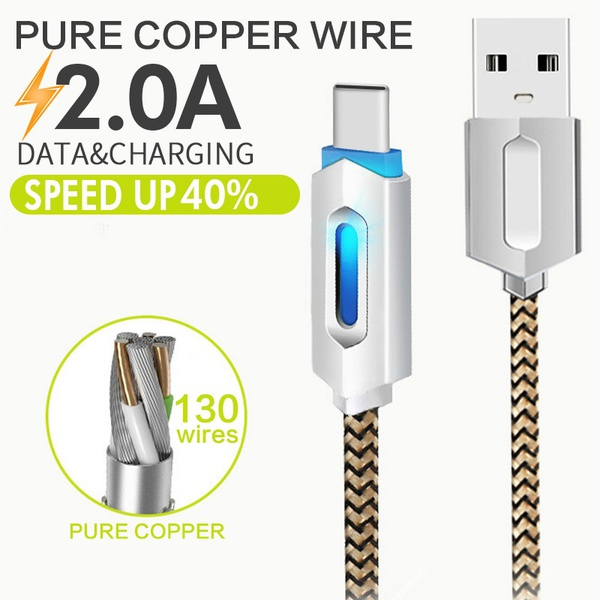 usb cable intelligent led light charging charger flash safe charging rh aliexpress com