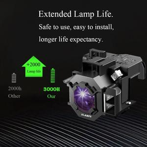 Image 2 - عالية الجودة ELPLP41 V13H010L41 لإبسون S5 S6 S6 + S52 S62 X5 X6 X52 X62 EX30 EX50 TW420 W6 77C العارض مصباح مع الإسكان