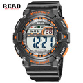 LER marca 2017 ano novo relógio De Pulso do esporte Relógios Digitais para os homens Dial Grande Militar Digital relógio despertador Cronômetro À Prova D' Água 30 m