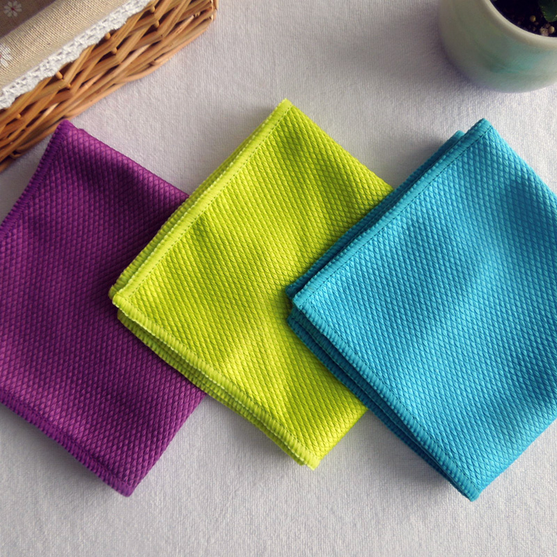 3 PCS/LOT 30cmx40cm Lint Free Car Care Windows Kitchen Cleaning Towel French Terry Cloth Microfiber Glass Towel