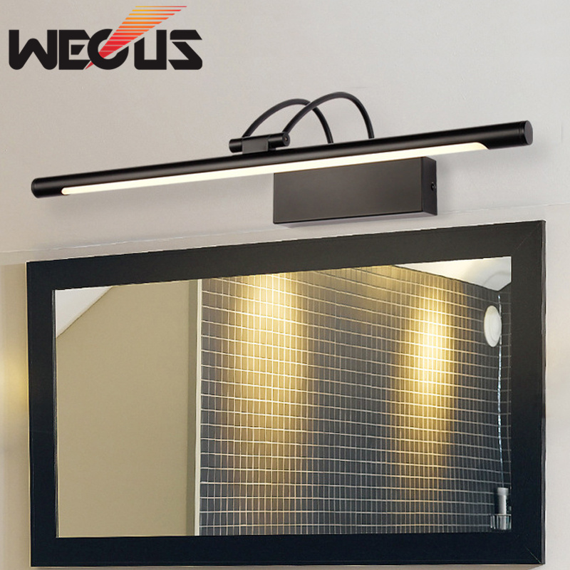 Popular Black Bathroom Mirror Light Rotatable Bedroom Vanity Lamp Study Backaground Lighting 45cm 9W