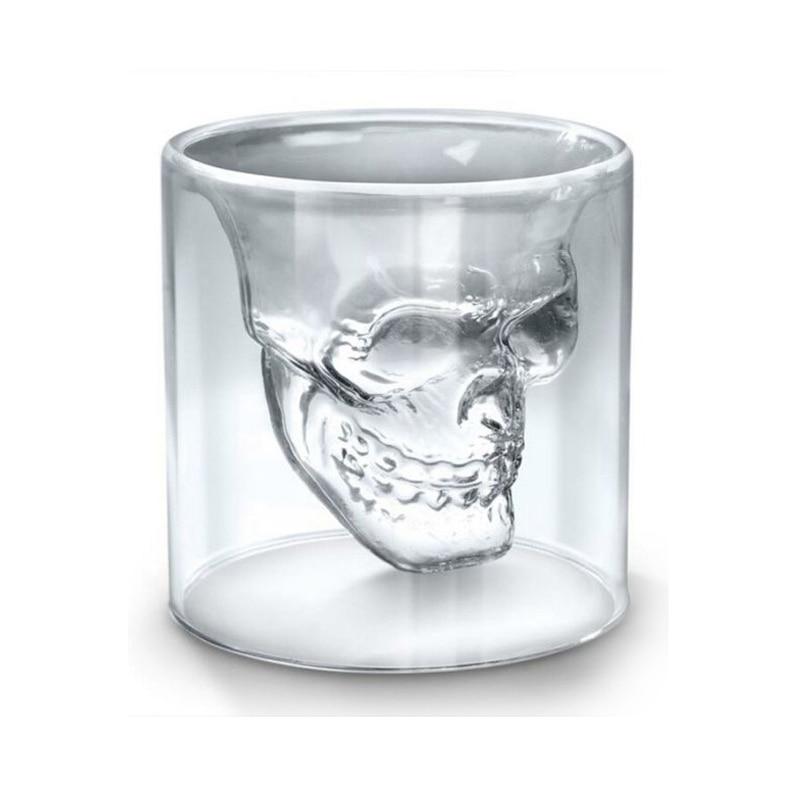 Skull Transparent Beer Red Wine Whiskey Glass