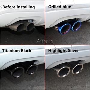 Image 3 - Atreus Car Exhaust Muffler Tip Pipe Auto Accessories For Volkswagen VW Passat B7 CC Tiguan 2011 2012 2013 2014 2015 2016 2017