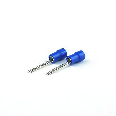 100pcs/lot 16-14 AWG DBV2-18 blue Insulated pin wire Terminals electronic spade RoHS connector crimp tip цена и фото