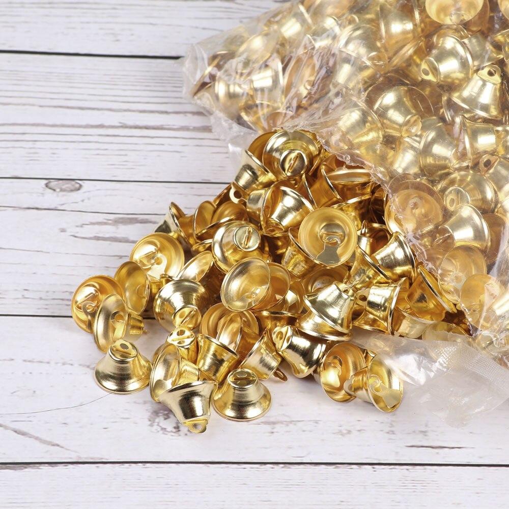 5000 шт маленькие Мини колокольчики золотые серебряные ПЭТ Висячие металлические колокольчики Свадебные Рождественские украшения аксессуары колокольчики для рукоделия
