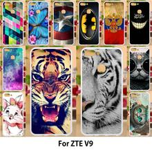 Anunob Case For ZTE Blade V9 Cases TPU Soft Silicon Cover For ZTE Blade V9 Covers Painting Cute Tiger Patterned цена