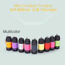 LED Mini Security Protection Tactical Self Defense Protable Flashlight Outdoor Survival Torch Self-defense Tool