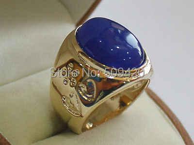 XFS2014102 > > ขนาดใหญ่ inaly สีฟ้าหยกลูกปัดแหวนผู้ชายขนาด 8-10