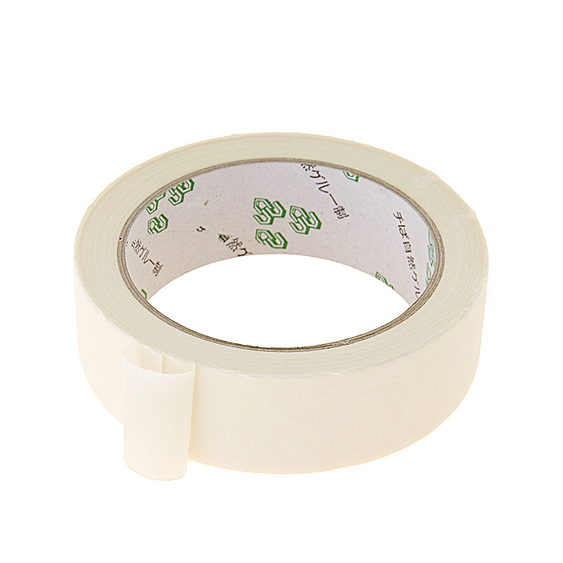 Masking Tape White Color 12/18/24mm Single Side Tape Adhesive Crepe Paper for Oil Painting Sketch Drawing Supplies Wholesale 3