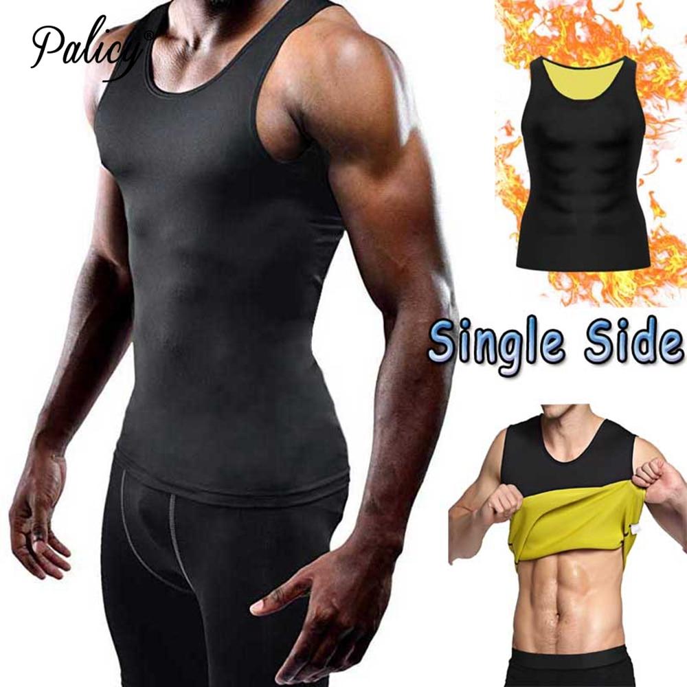 Palicy Mens Neoprene Body Shaper Vest for Fat Burn Sauna Sweat Tank Top T-shirt  ( S-5XL , Compression Slimming Classical )