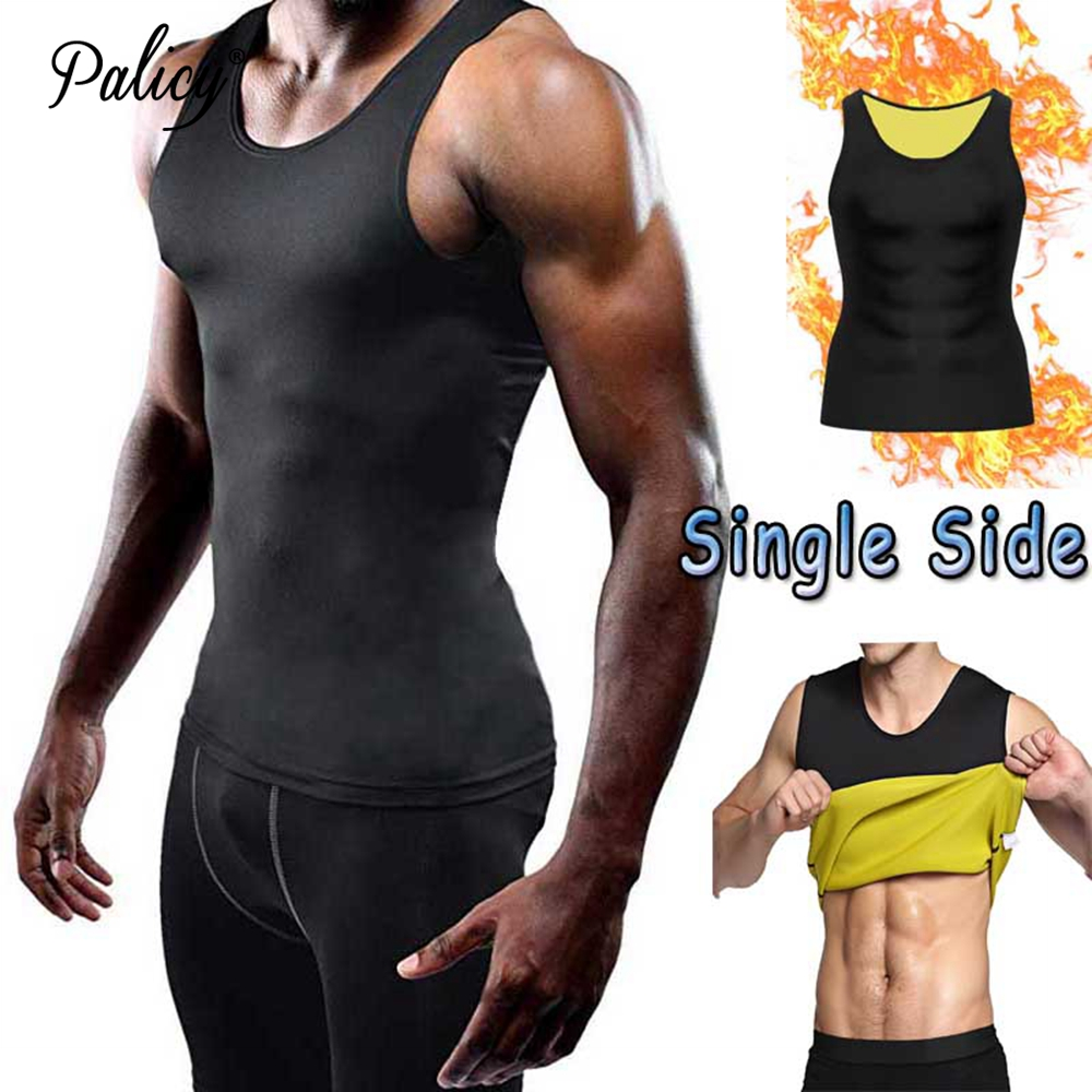 Palicy Men's <font><b>Neoprene</b></font> Body Shaper Vest for Fat Burn Sauna Sweat Tank Top <font><b>T</b></font>-<font><b>shirt</b></font> ( S-5XL , Compression Slimming , Classical ) image