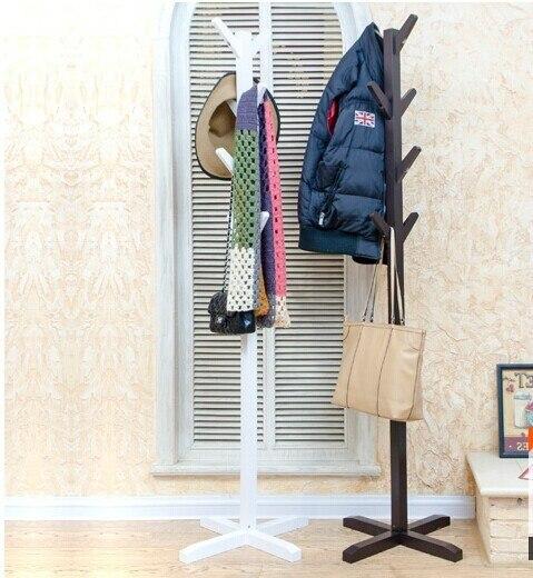 Al por mayor! estilo europeo blanco/negro perchero 100% bastidores capa de soporte de madera, de madera muebles de sala, Muebles Para El Hogar Decoración