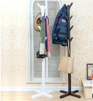 Wholesale! European style white/black coatrack 100% wood coat racks stand,wooden living room furniture,Home Furnishing Decor
