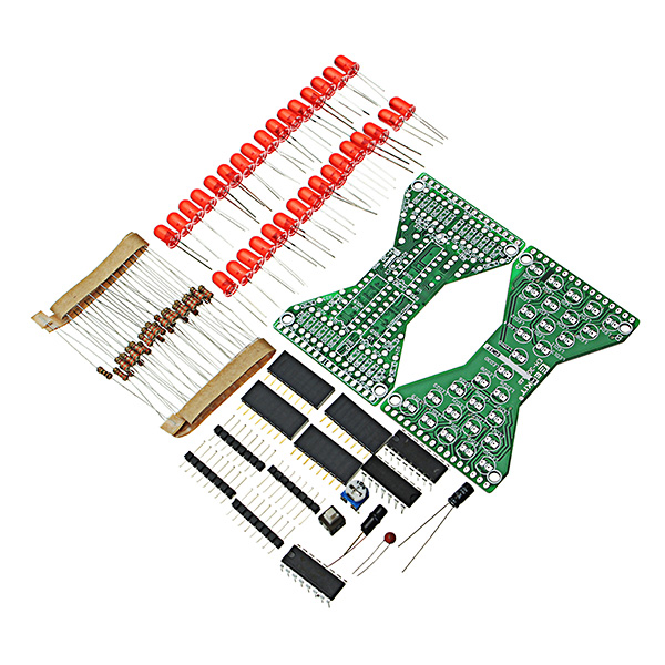 New DIY Electronic Hourglass Kit Soldering Practice Spare Parts