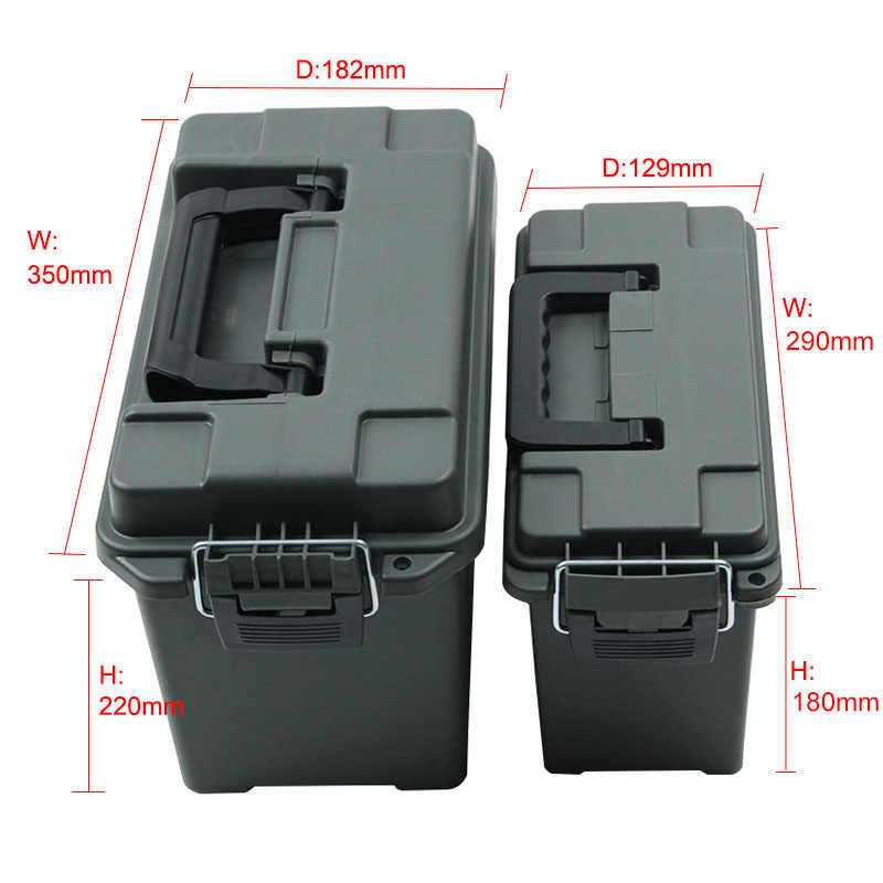 Коробка для хранения патронов в Военном Стиле, пластиковый контейнер для хранения, сверхмощный калибр, ящик для хранения патронов, легкий чехол для хранения, тактическая коробка для патронов