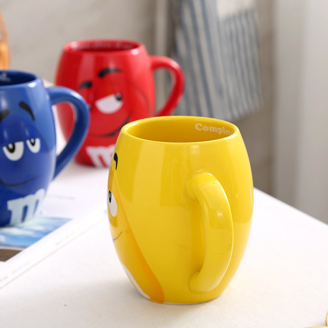 online shop creative m m s mm beans drinking cups ceramic colored