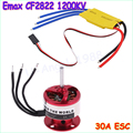 EMAX CF2822 1200KV Outrunner Motor + ESC 30A Airplane+Free shipping