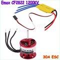 EMAX CF2822 1200KV Outrunner Motor + ESC 30A Avião + Frete grátis