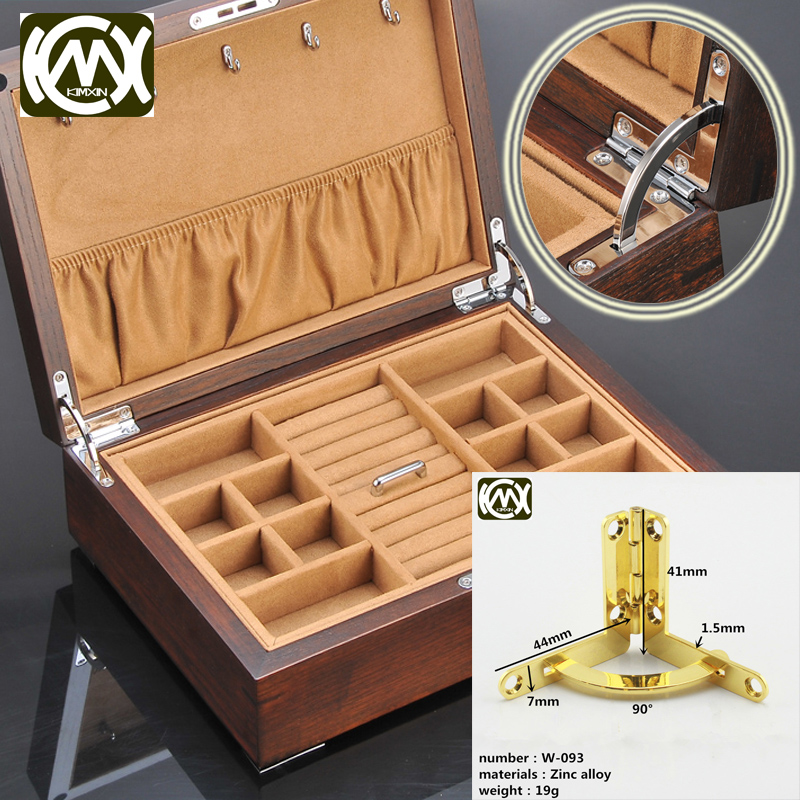 41mm*44mm 10pc High-grade Furniture zinc alloy hinges Jewelry Box hinge  Wooden box hinge for cigar box Wooden box anklets W-093