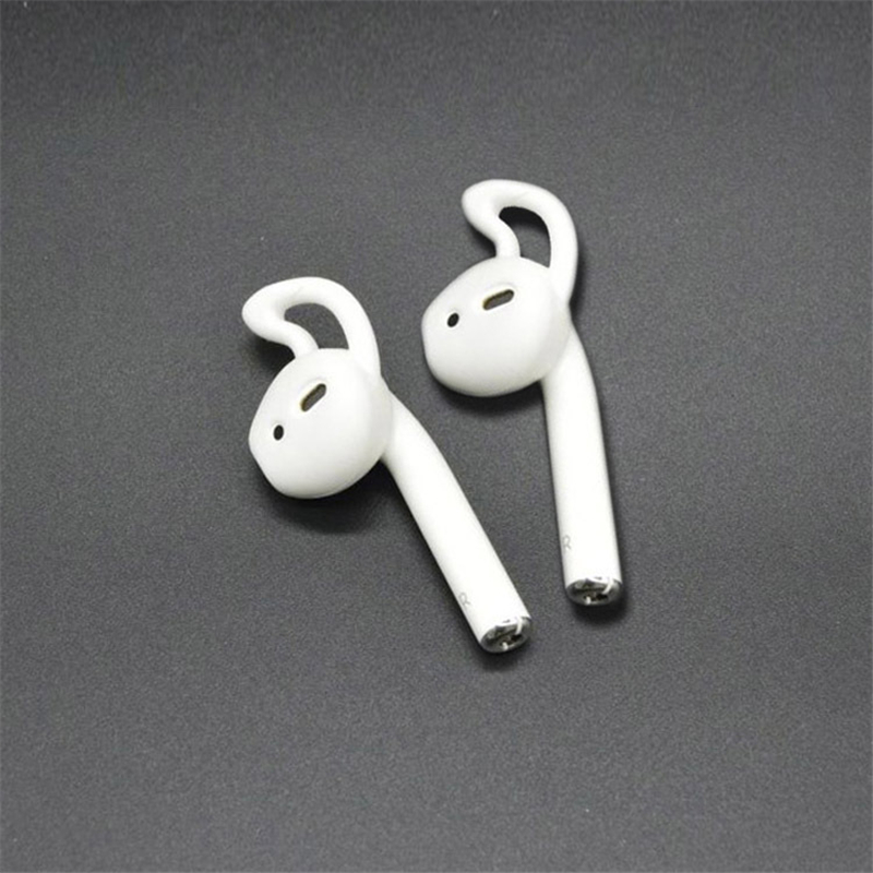 все цены на New 5 color Fashion Mini Earphone Case for AirPods Replacement Soft Silicone Ear Hook Earbuds Tips for Apple EarPods онлайн